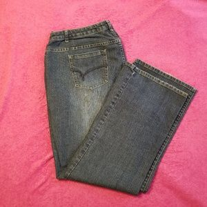 Fashion Bug Red Triangle Jeans